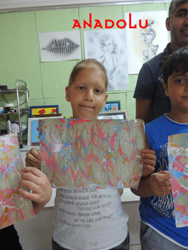 Çocuklar Yönelik Ebru Eğitimi İzmir