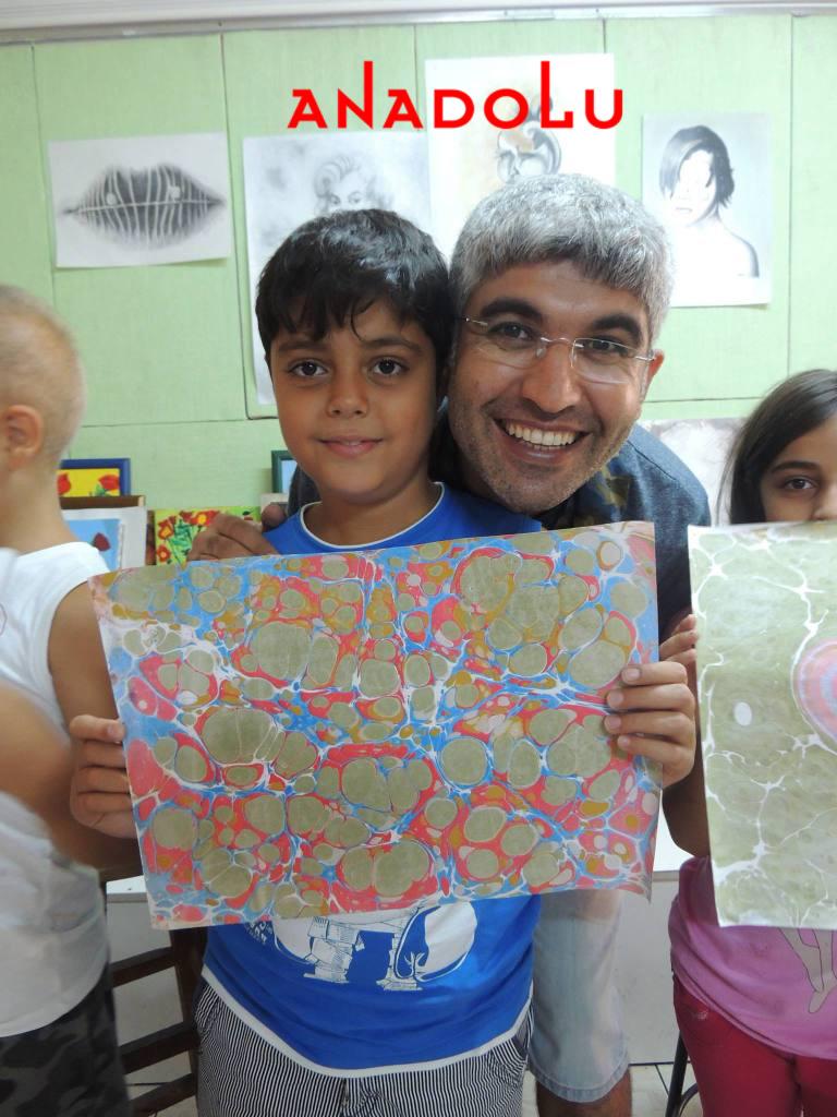 Çocuklar İçin Ebru Kursları İzmir