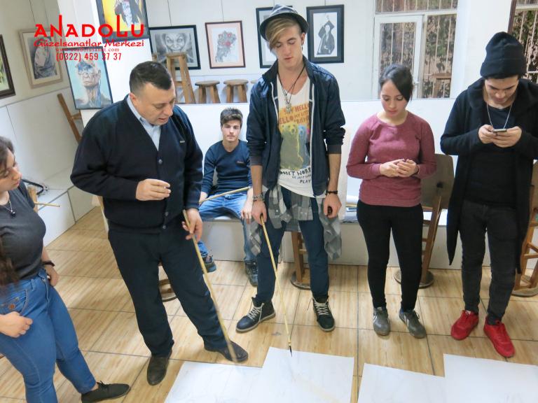 Çukurovada Anadolu Güzel Sanatlarda Modelden Desen Çizim Eğitimleri