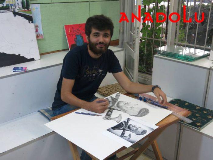 Karakalem Çalışan Hobi Grubu Çizimleri Çukurova