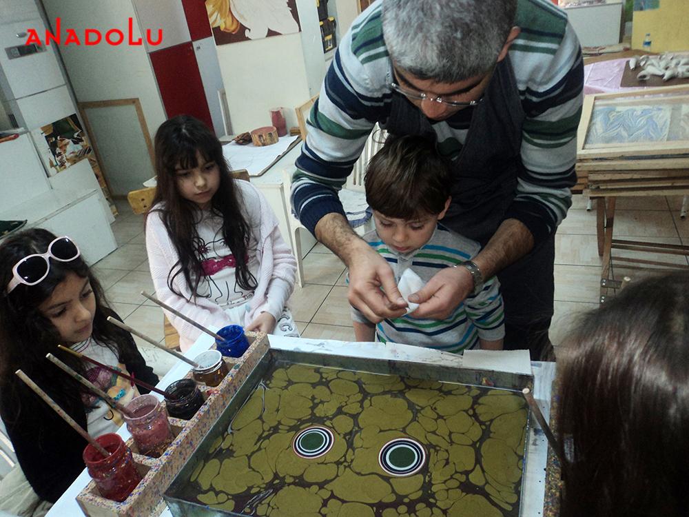 Çocuklar İçin Ebru Atölyeleri Çukurova