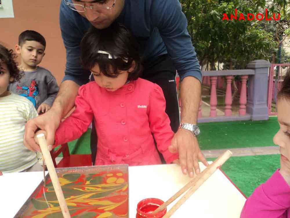 Çocuklarla Ebru Dersleri Başladı Çukurova'da