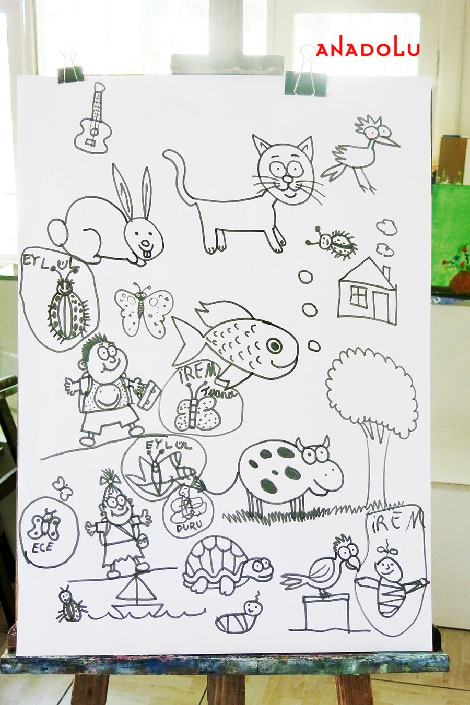 Çocuklarla Karakalem Çalışmaları Çukurova
