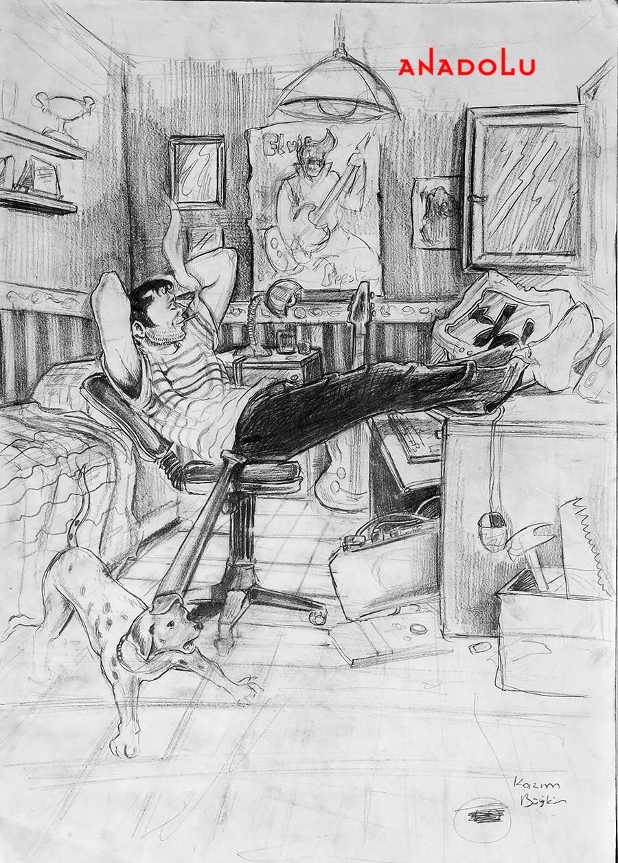 Güzel Sanatlar Fakülteleri İçin Kara kalem Çizimler Çukurova