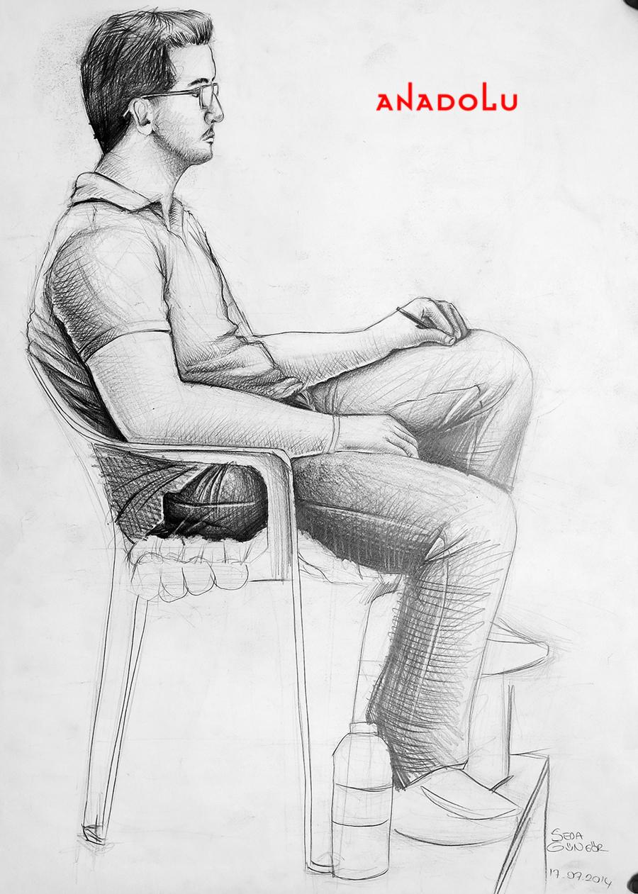 Çukurova'daki Güzel Sanatlar Fakülteleri İçin Kara kalem Çizimler