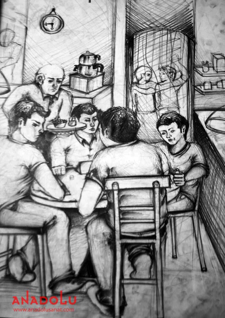 Çukurova'daki Güzel Sanatlar Fakülteleri İçin Kara kalem Çizim Çalışmaları