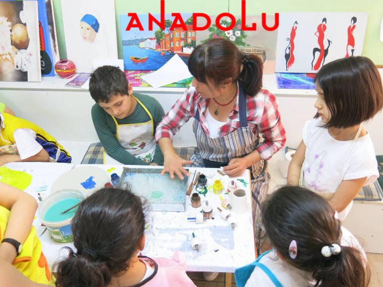 Çocuklarla Ebru Kurslarımız Devam Ediyor Çukurova