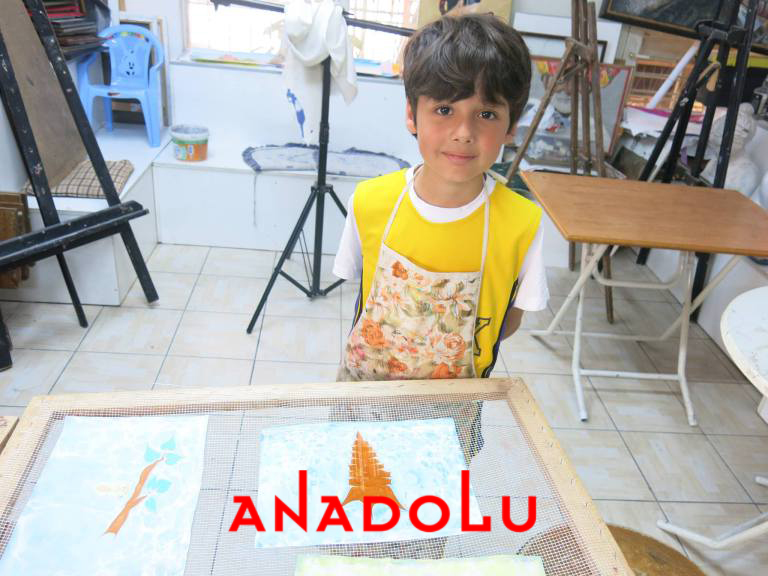 Çukurova'da Çocuklar İçin Ebru Atölyeleri