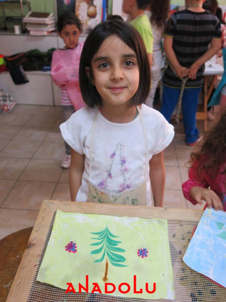 Çocuklara Yönelik Ebru Kursları Devam Ediyor Çukurova