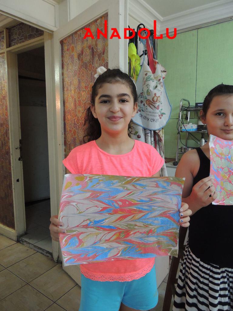 Çukurovada Çocuklara Yönelik Özel Ebru Eğitimleri
