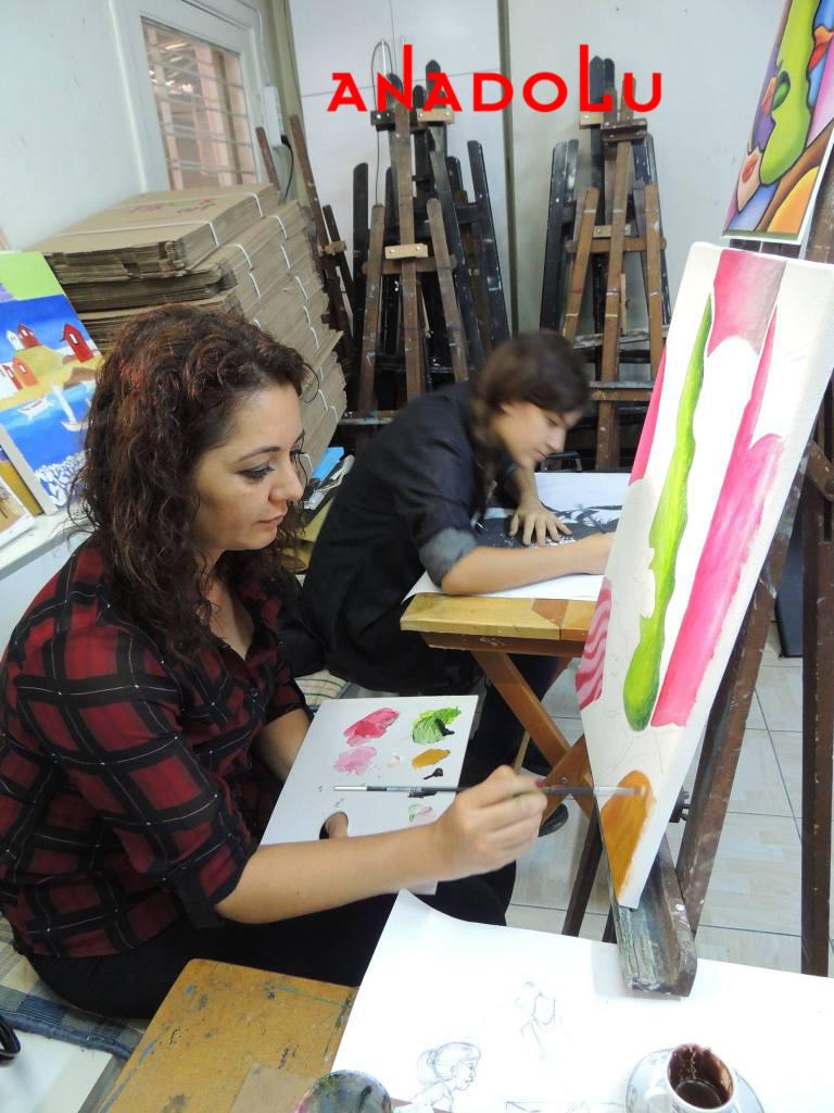 Hobi Grupları Yağlıboya Çizimleri Çukurova