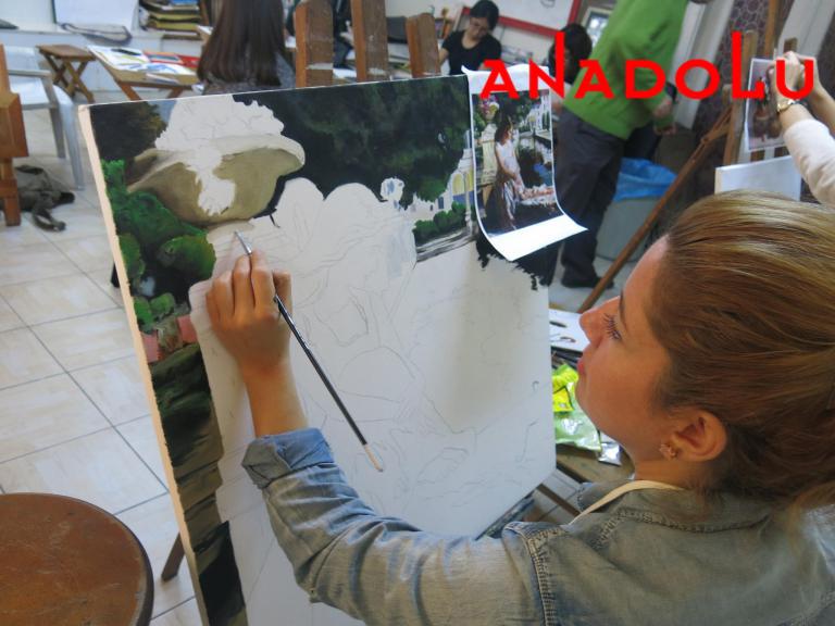 Yağlı boya Manzara Çalışması Çukurova