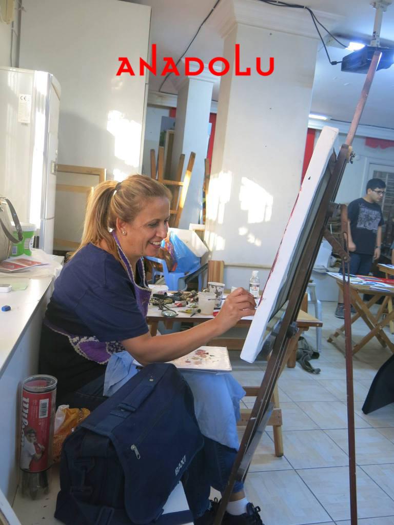 Yağlı boya Çalışmaları Hobi Grubu Dersleri Çukurova