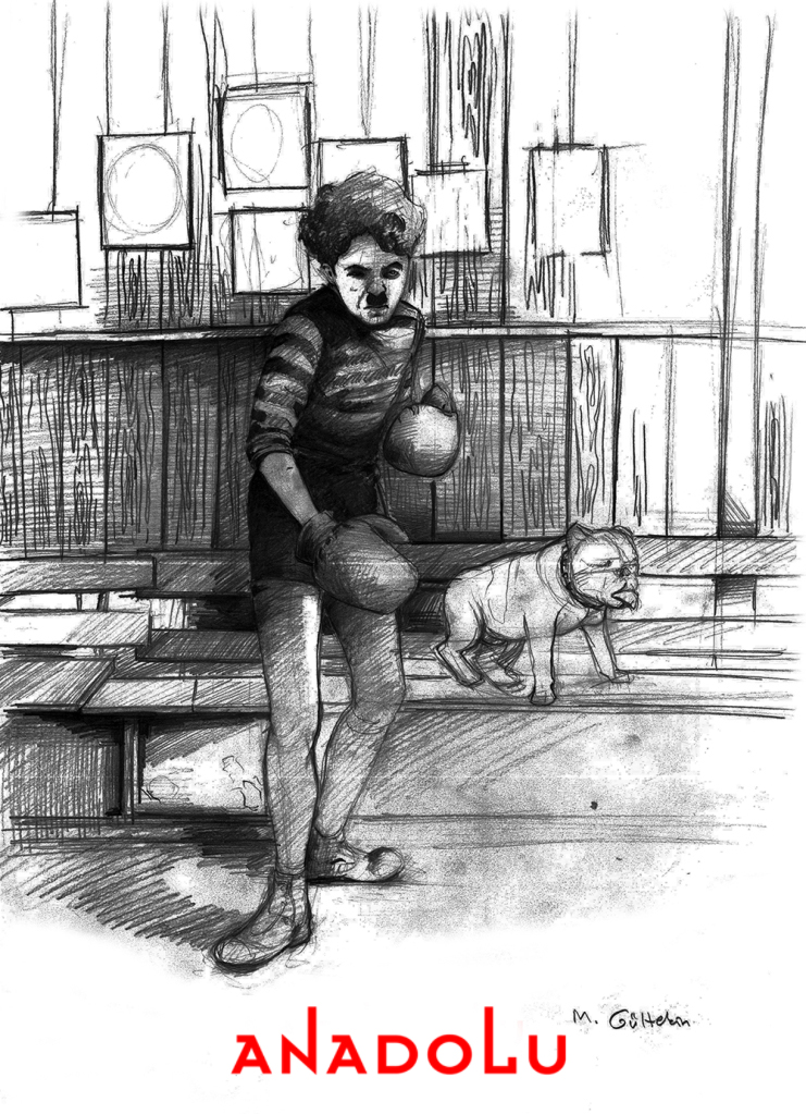 karakalem Charlie Chaplin Çizimleri Çukurova