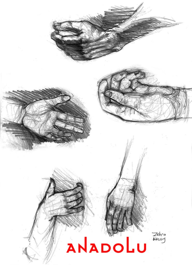 Karakalem El Çizim Çalışmaları Çukurova