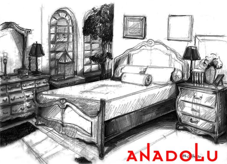 Çukurova'da Bir Yatak Odası Çizimleri