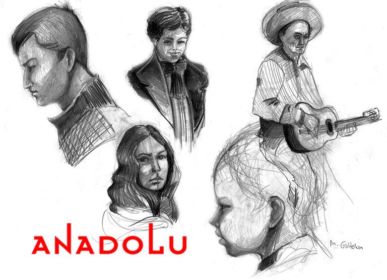Karakalem İnsan Çizim Çalışmaları Çukurova