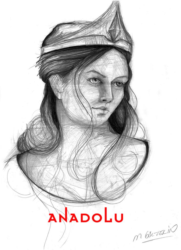 Karakalem kadın Yüzü Çizimleri Çukurova
