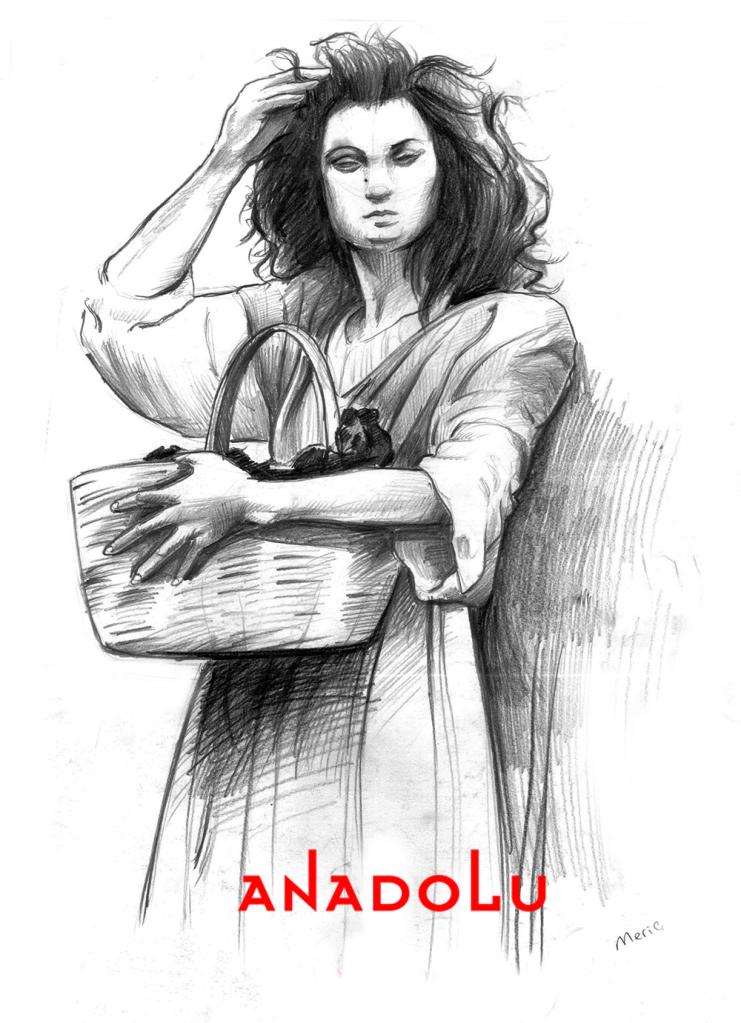 Karakalem Ayakta Kadın Model Çizimi Çukurova