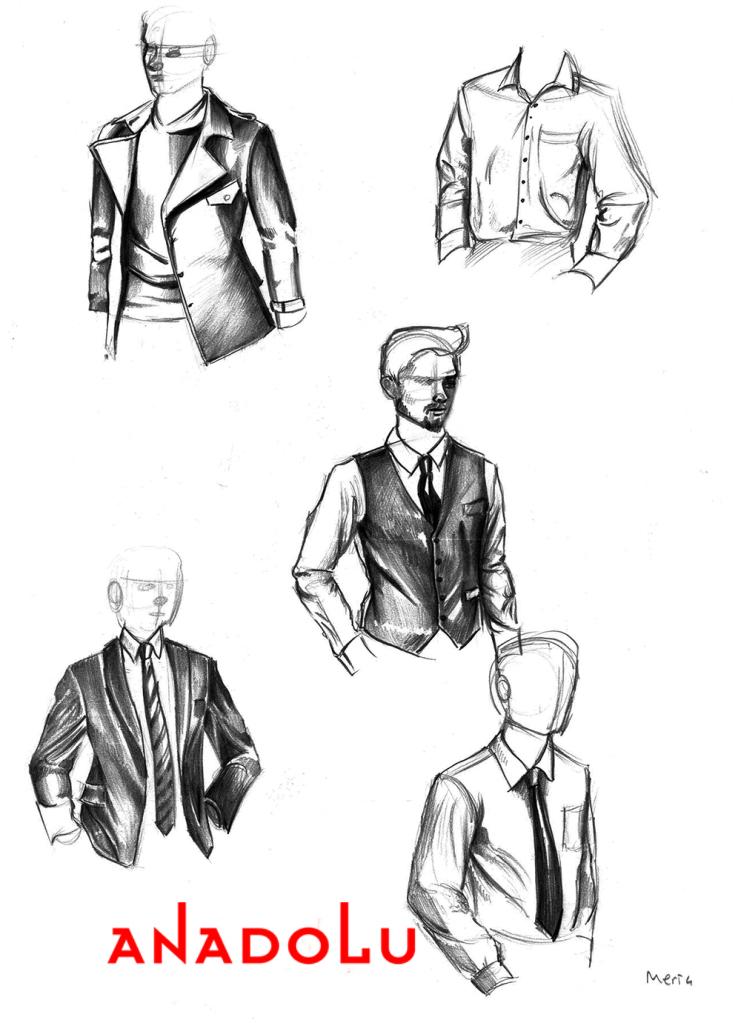 Karakalem Elbise Çizimleri Çukurova